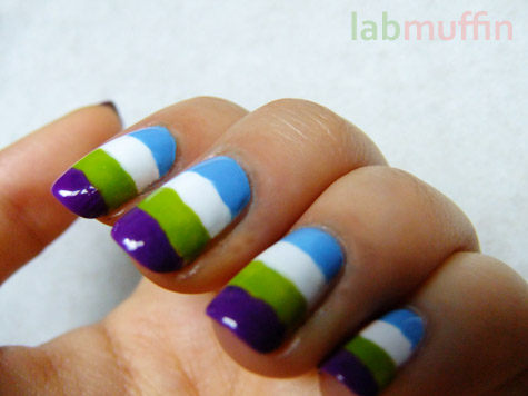 NOTD: Summer stripes, and Nail Polish Tag