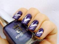 Lightning bolt nail art