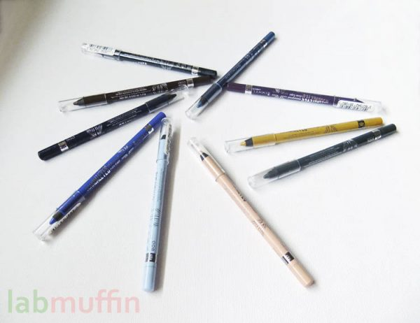 Rimmel Scandal'Eyes Waterproof Kohl Kajal Eyeliner swatches and review