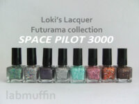 Loki's Lacquer Futurama Space Pilot 3000 collection Pt 1 – Swatches and Review