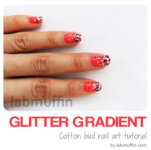 Nail art tutorial: How to create a glitter gradient using a cotton bud