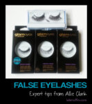 Expert tips on false eyelashes from makeup artist Allie Clark
