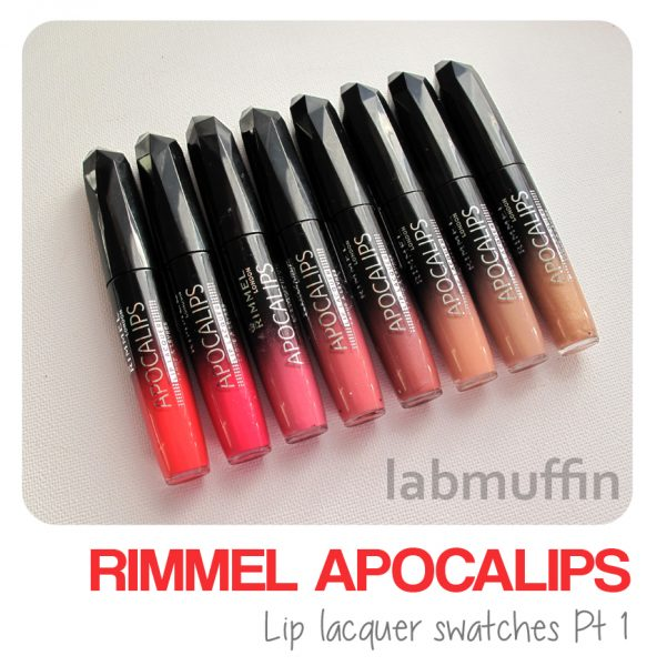 Rimmel Apocalips swatches and review part 1: Pinks