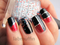 Striping Tape Nail Art Tutorial for piCture pOlish Blog Fest 2013!