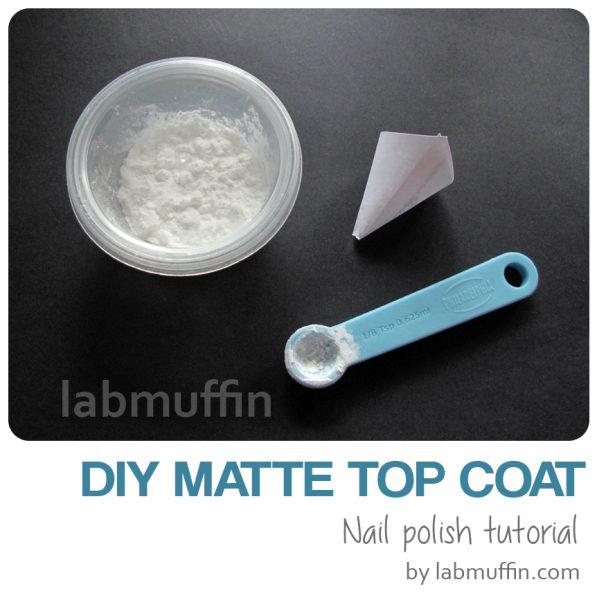 How does matte top coat work, and DIY matte top coat recipe