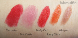 Mary Kay lipstick swatches and review