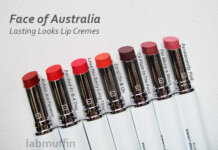 Face of Australia Lasting Looks Lip Creme swatches and review