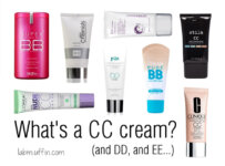What's a CC cream? (and DD, and EE…)