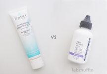 Sunscreen Showdown: Kosmea Moisturising Lotion and Dermalogica Ultracalming Super Sensitive Shield