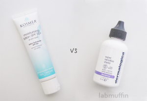 Sunscreen Showdown: Kosmea Moisturising Lotion and Dermalogica Ultracalming Super Sensitive Shield