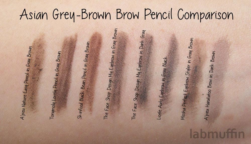 Asian-brow-pencil-comparison-grey-brown
