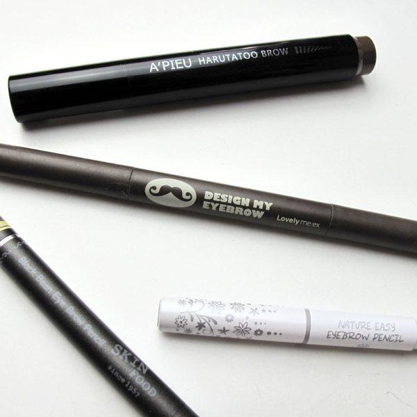 Korean Gray-Brown Brow Pencil Comparison