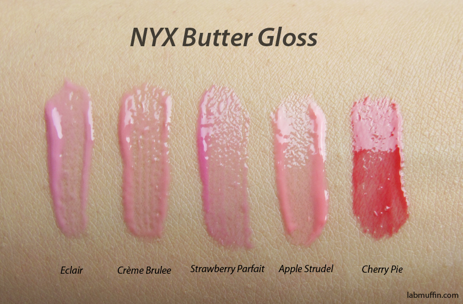NYX Butter Gloss and Intense Butter Gloss Swatches and Review