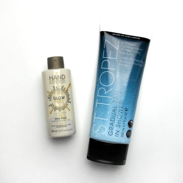 Fake Tan reviews: St Tropez In-Shower Tan and Hand Chemistry Glow Oil