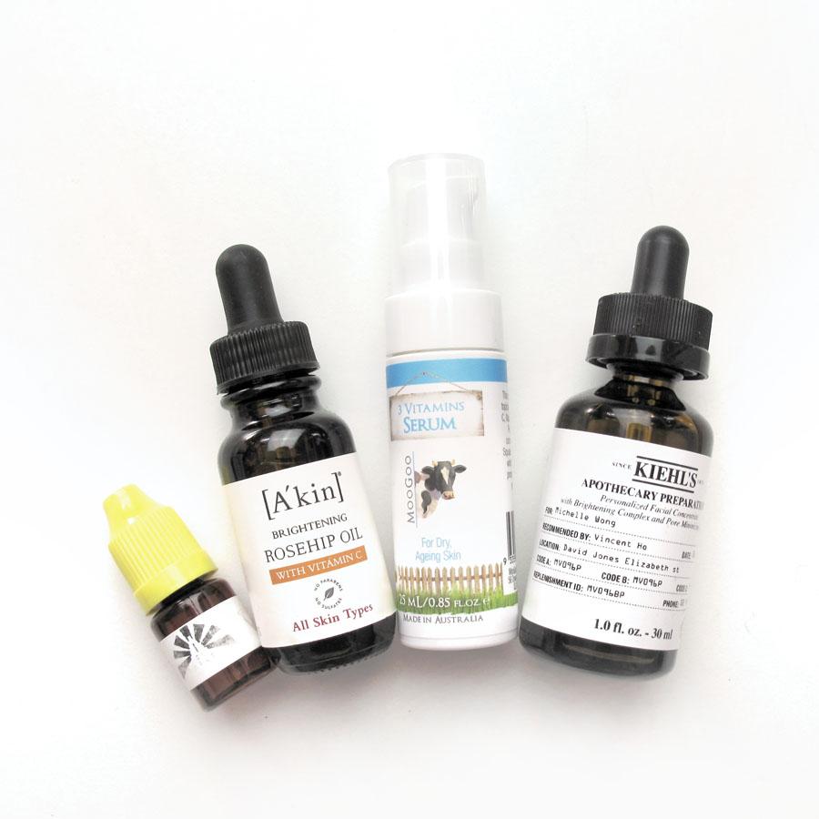Vitamin C Oil Serum Review: Kiehl's, A'kin, Holy Snails, MooGoo