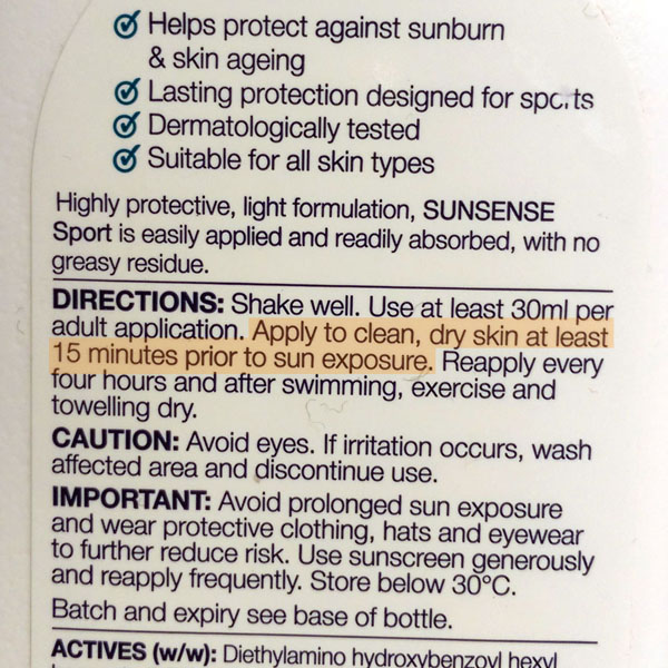 Why do I need to apply sunscreen before sun exposure?