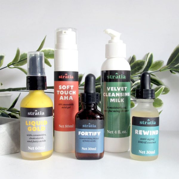 Stratia Skin Review: Liquid Gold, Rewind, Soft Touch AHA, Velvet Cleansing Milk, Fortify