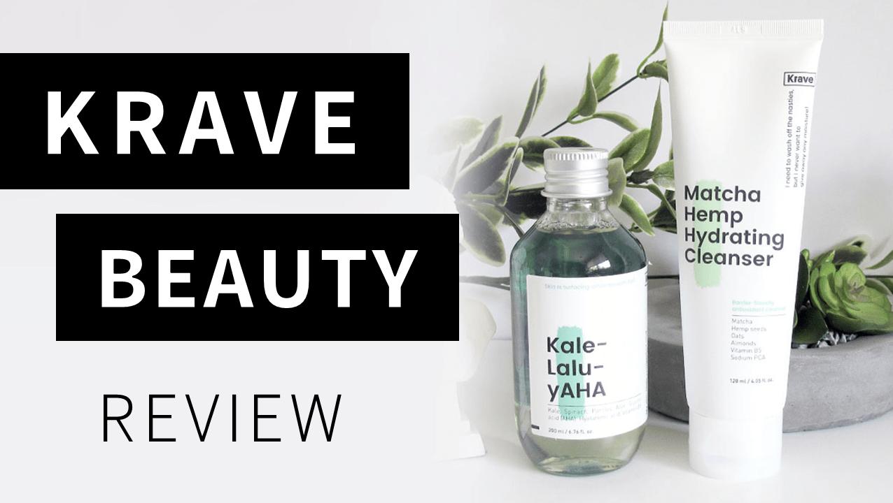 Video: KraveBeauty Skincare Review (Kale-lalu-yAHA and Matcha Hemp Hydrating Cleanser)