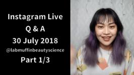 Instagram Live Q&A session: 30 July 2018