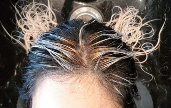 Wet bleached white Asian hair - What to Expect After You Bleach Your Asian Hair