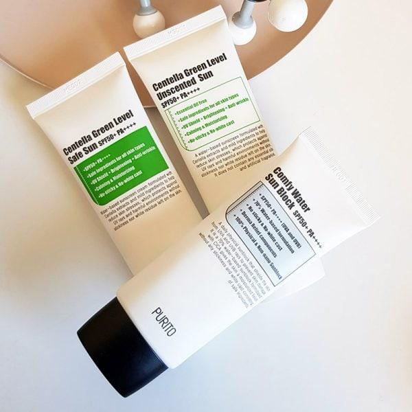 Purito Sunscreen Review: Safe Sun, Unscented Sun & Comfy Water Sun Block