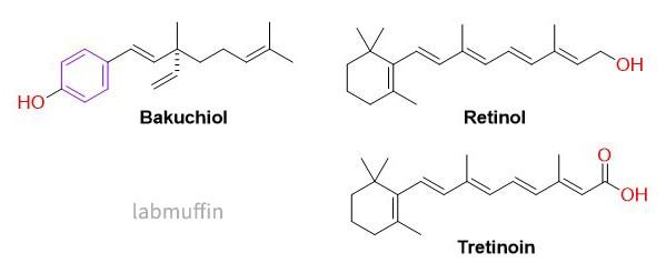 bakuchiol retinoid structures