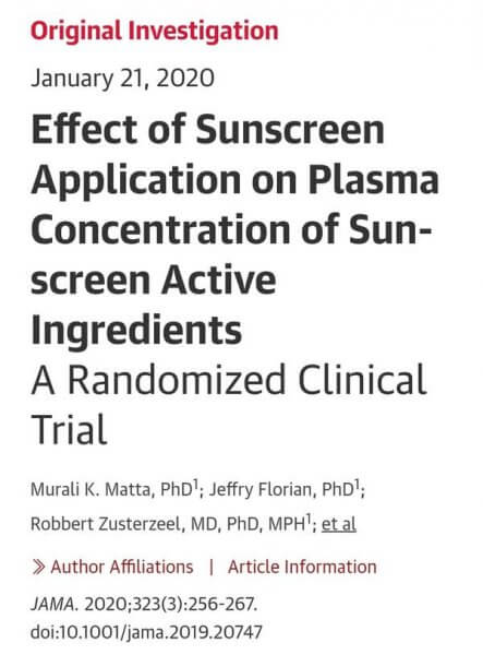 More Sunscreens in Your Blood??! The New FDA Study
