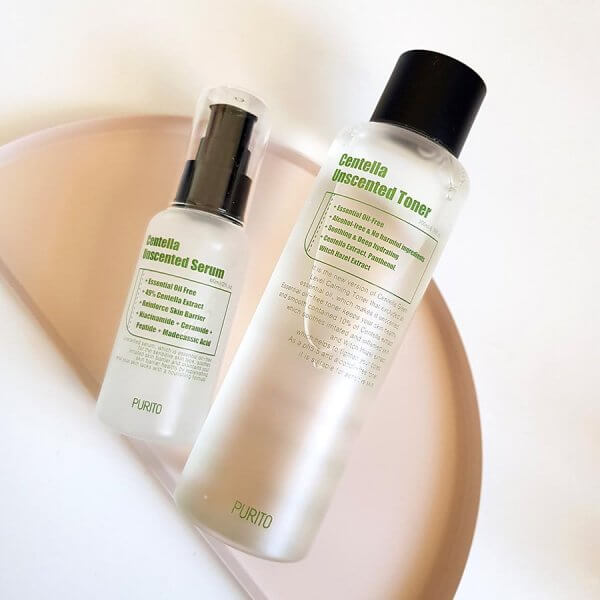 Purito Unscented Centella Serum and Toner