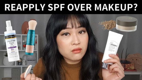 How to Reapply Sunscreen Over Makeup (with video)