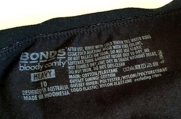 Bonds Bloody Comfy Materials