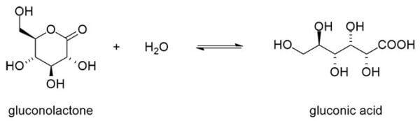 gluconolactone gluconic acid