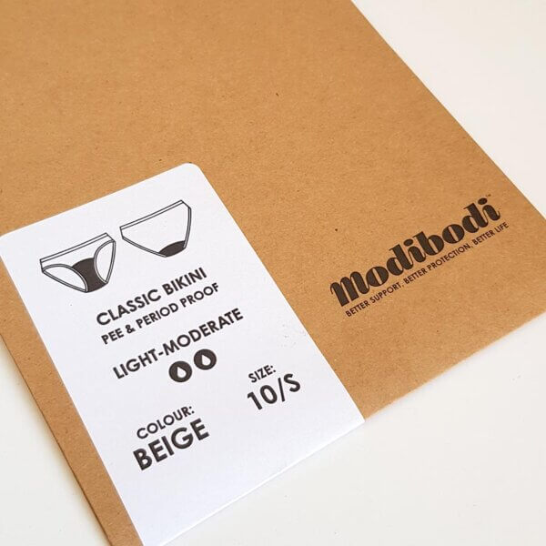Modibodi packaging