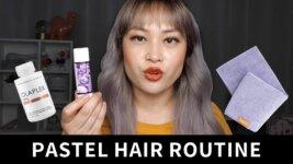 Low Maintenance Pastel Hair Routine (video)