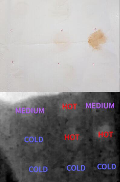Thermal image - tinted sunscreens